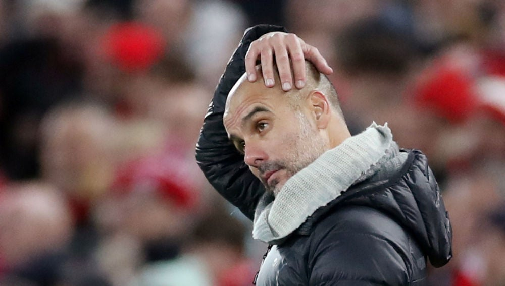 Guardiola, ante el Liverpool