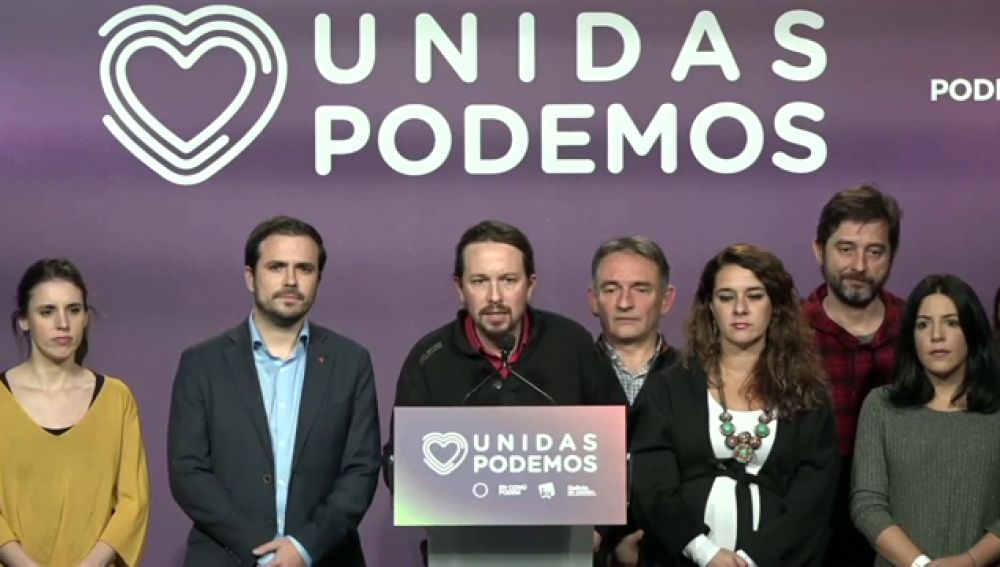 Pablo Iglesias tras el resultado de las elecciones generales, vídeo en directo