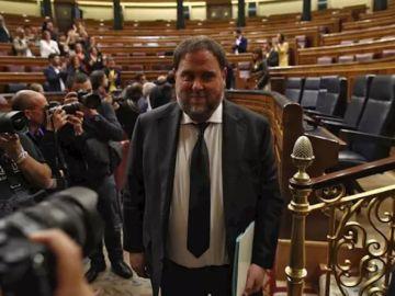 Imagen de Oriol Junqueras en el Congreso (Archivo)