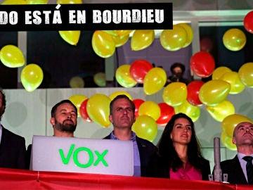 Los líderes de Vox, celebrando el éxito de su partido en el 10N