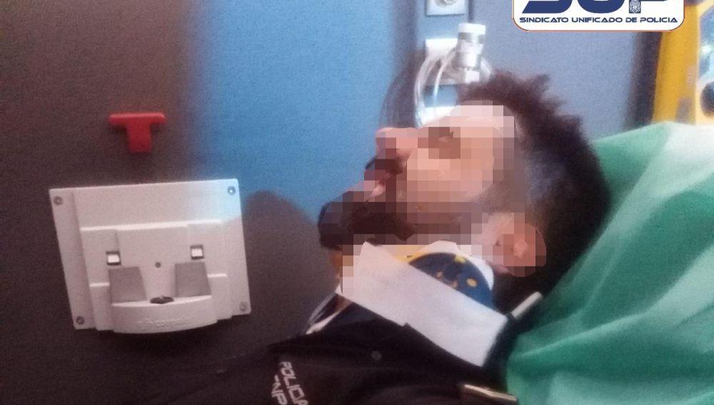 Uno de los policías heridos en un accidente en Barcelona