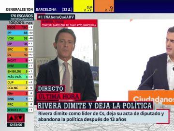 """Manuel Valls, a Rivera tras dimitir: """"Chapó, Albert, pero qué lástima"""""""