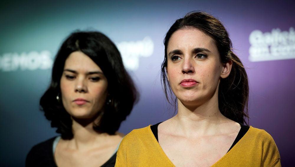 Las candidatas de Unidas Podemos, Isabel Serra e Irene Montero