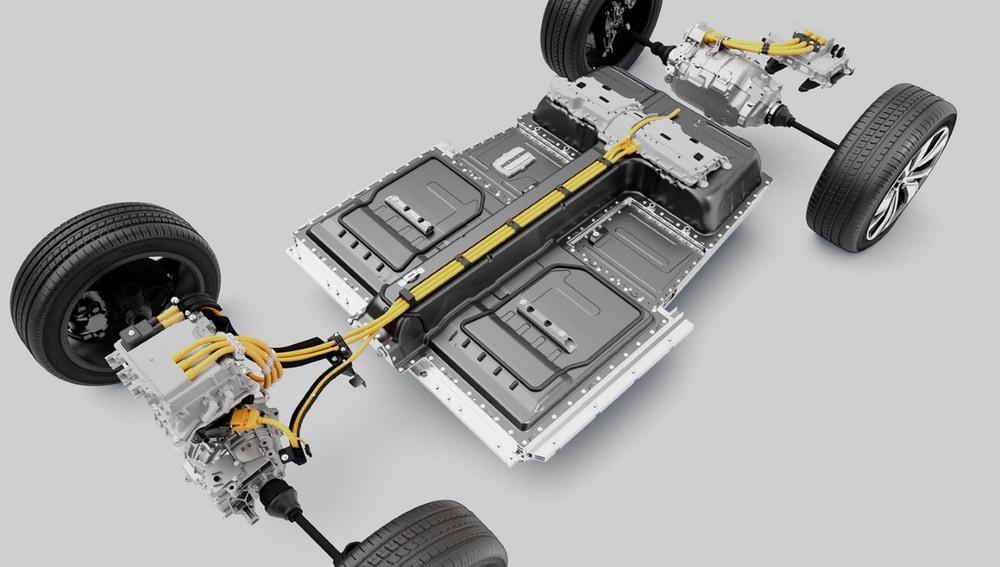 Esquema mecánico Volvo XC40 Recharge
