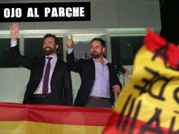 Santiago Abascal celebra el resultado de las elecciones del 10N