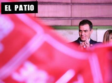 Pedro Sánchez en la noche electoral del 10N