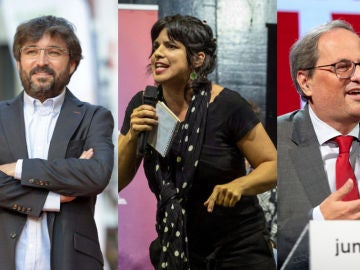 Imagen de Jordi Évole, Teresa Rodríguez y Quim Torra