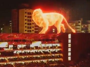León 'gigante' en el nuevo estadio de Estudiantes