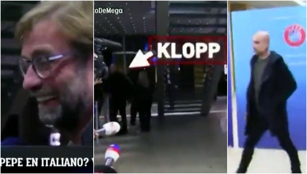 Klopp 'huye' de Guardiola en Nyon