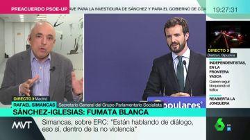 """Simancas, PSOE: """"La actitud del PP es ilegítima, lo razonable sería que se abstuviesen"""""""