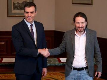 Pacto entre Pedro Sánchez y Pablo Iglesias