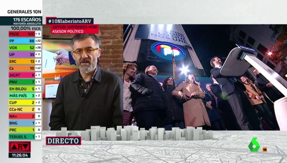 """Antonio Gutiérrez-Rubí: """"Es indeseable que haya terceras elecciones pero no las descartaría"""""""