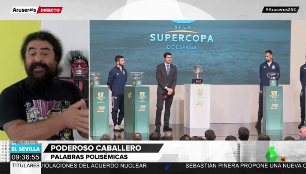 """El Sevilla critica la celebración de la supercopa de fútbol en Arabia Saudí: """"Poderoso caballero..."""""""
