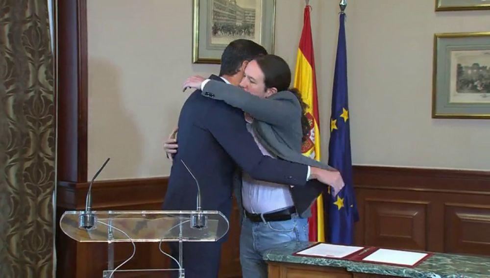 Así han anunciado Pedro Sánchez y Pablo Iglesias el preacuerdo para un gobierno de coalición