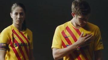 La nueva camiseta del FC Barcelona basándose en la 'senyera'