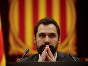 El presidente del Parlament de Cataluña, Roger Torrent