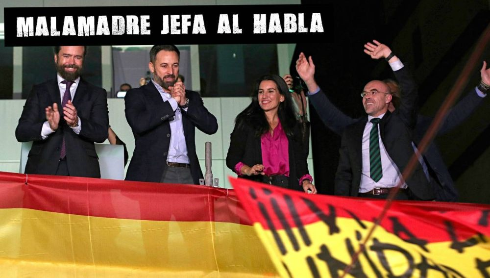 Dirigentes de Vox celebrando el resultado del 10N