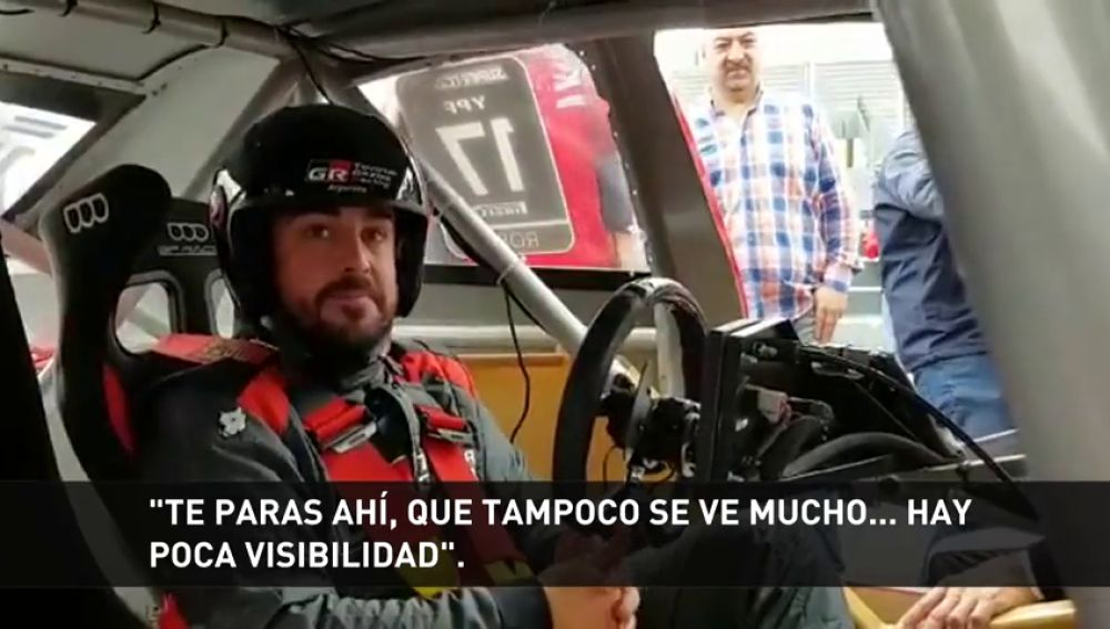 "Fernando Alonso causa sensación en Argentina: ""Miento si digo que estoy al nivel de Carlos Sainz o Peterhansel"""