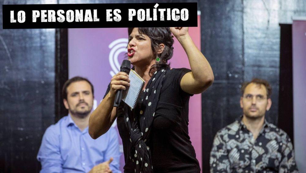 Teresa Rodríguez en un acto electoral en Sevilla