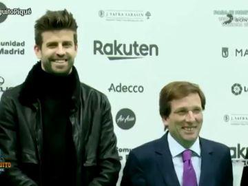 """Gerard Piqué y Almeida, hermanados por la Copa Davis: """"Le hemos cambiado de equipo. ¿Has visto la corbata?"""""""