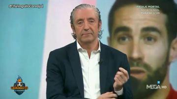 """Lo más viral: la cara de Josep Pedrerol tras decir Carvajal que """"no merece la pena responder"""" una pregunta de Juanfe Sanz"""