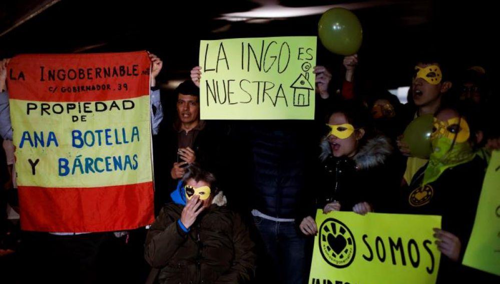 Protestas por el desalojo de La Ingobernable