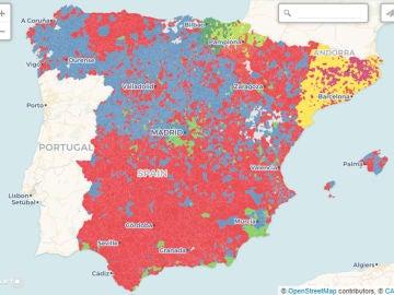 Elecciones 10N: el mapa de resultados por municipios