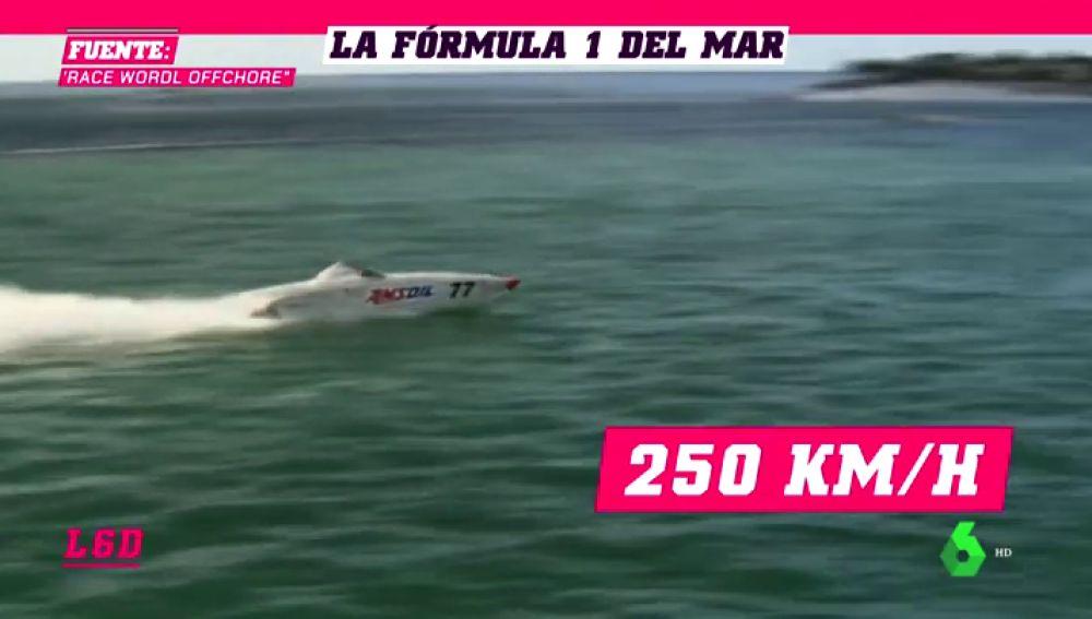 Así es la increíble 'Fórmula 1 del Mar' donde los barcos alcanzan los 255 km/h