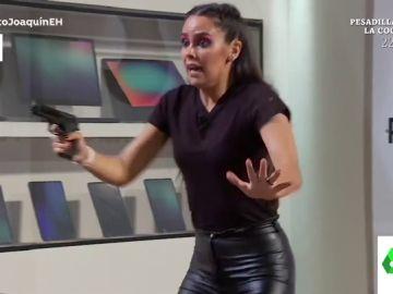 El mal rato de Cristina Pedroche durante un experimento de El Hormiguero