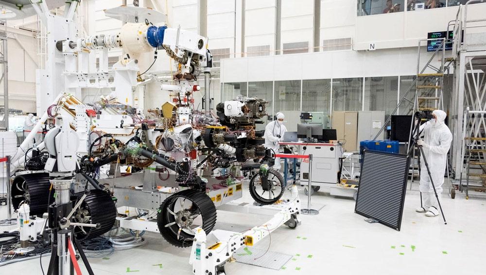 Pruebas efectuadas este verano al 'rover' de la misión Mars 2020