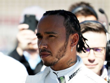 Lewis Hamilton durante el Gran Premio de Estados Unidos