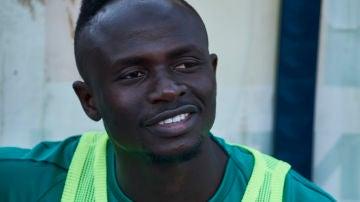 Sadio Mané, en un entrenamiento con Senegal