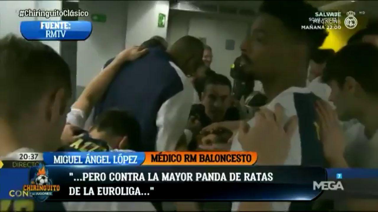 """Polémica arenga del médico del Real Madrid antes del Clásico: """"¡Contra la mayor panda de ratas de la Euroliga!"""""""