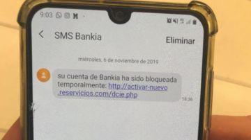 El fraude que simula ser un mensaje de Bankia para robar datos