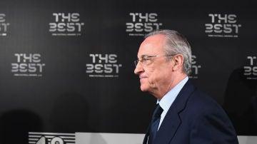 Florentino Pérez, en la última gala de los premios 'The Best'