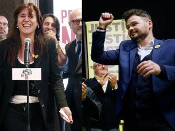 Imagen de archivo de Laura Borràs y Gabriel Rufián