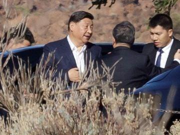 Imagen del presidente chino en el Teide