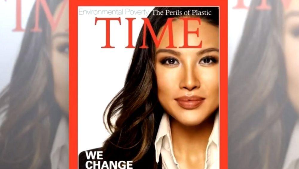 Imagen de una falsa portada de 'Time'