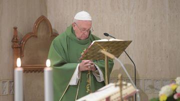 Imagen del papa Francisco en El Vaticano