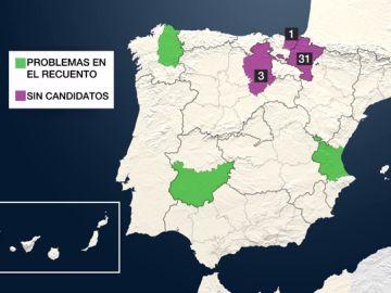 38 municipios de toda España repiten sus elecciones locales