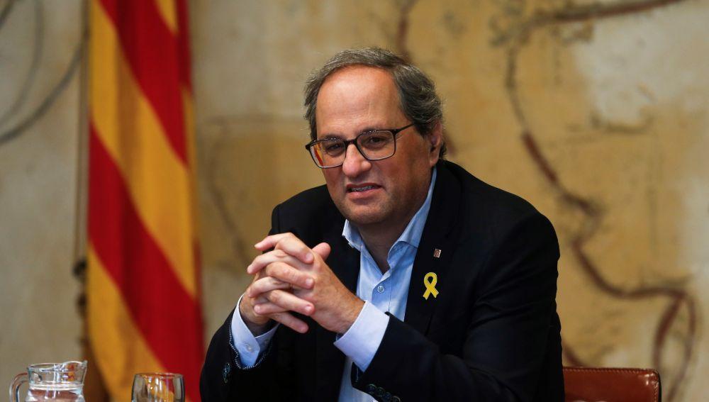"""A3 Noticias Fin de Semana (17-11-19) Torra pide a Sánchez que le llame y asegura que """"en breve"""" convocará una reunión con los partidos catalanes"""