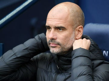 Guardiola, en un partido con el Manchester City