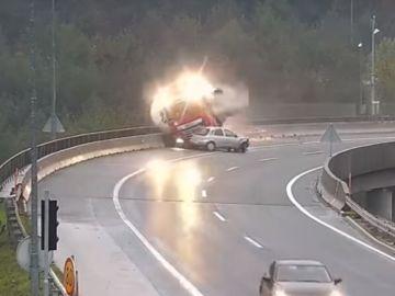 Impactante accidente de tráfico en Eslovenia