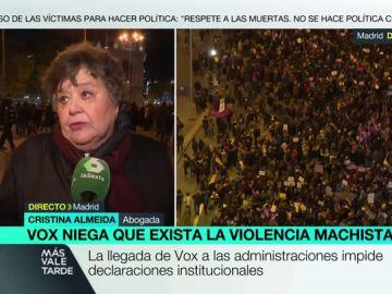 """Cristina Almeida carga contra PP y Ciudadanos: """"Rompen el consenso institucional y con las mujeres por tres votos"""""""