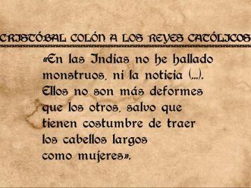 La carta de Cristóbal Colón a los Reyes Católicos