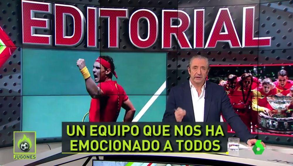 """Josep Pedrerol y su emocionante editorial por la Copa Davis de España: """"Vaya ejemplo"""""""