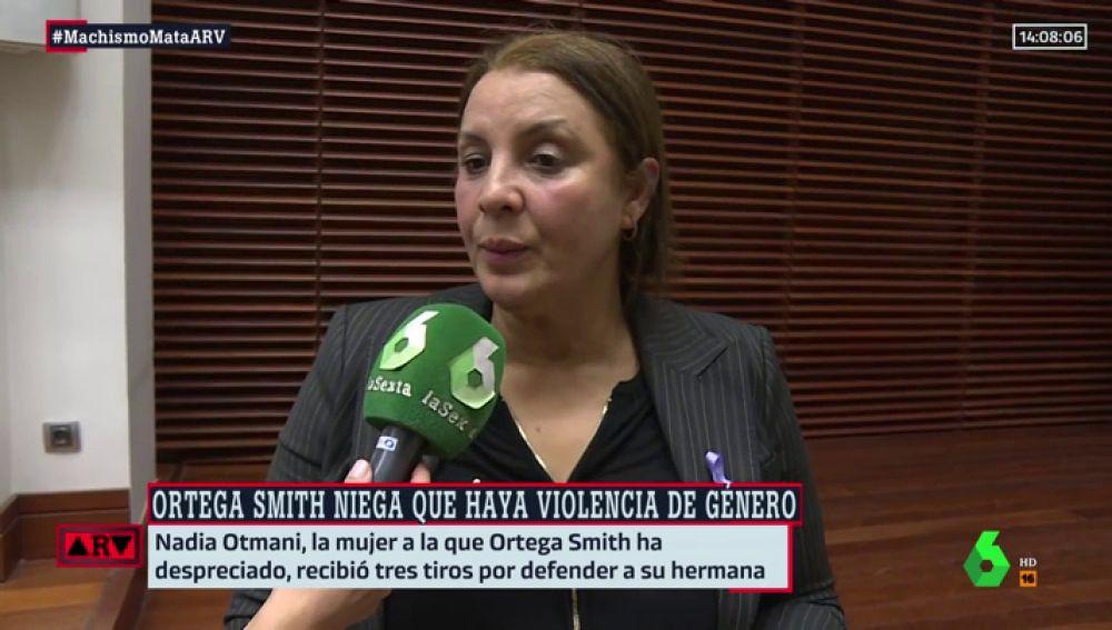 """Habla Nadia Otmani, la víctima de violencia machista que le ha plantado cara a Ortega Smith: """"Viene a reventar un acto para conseguir votos"""""""