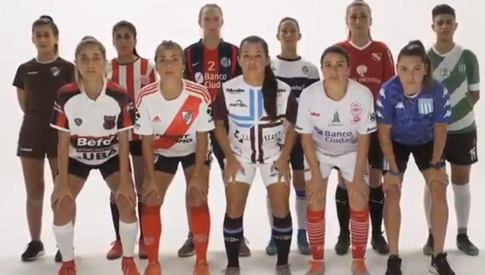 Jugadoras argentinas contra la violencia de género