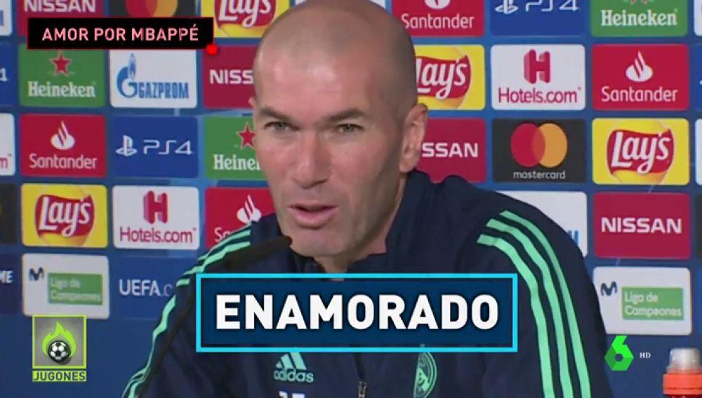 """Zidane ya no se esconde: """"Estoy enamorado de Mbappé"""""""