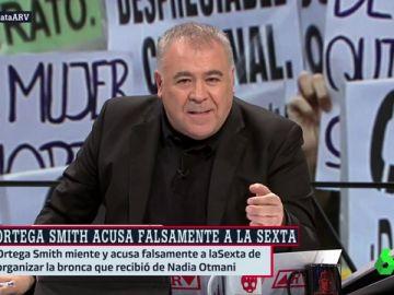 """Ferreras responde a las mentiras de Ortega Smith (Vox) contra laSexta: """"Queda en evidencia ante una víctima y arremete contra nosotros"""""""